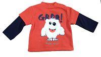 Carodel Chlapčenské tričko s príšerkou - červené, 62 cm
