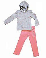 Carodel Dievčenská tepláková súprava so srdiečkami - farebná, 122 cm