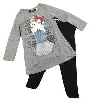 Carodel Dievčenský komplet trička a legín - farebný, 98 cm