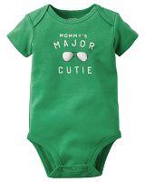 Carter's Chlapčenské body Major cutie - zelené, 62 cm