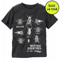 Carter's Chlapčenské svietiace tričko s chrobáčikmi, 110 cm