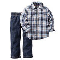 Carter's Chlapčenský komplet košeľa a džínsy - modrý, 104 cm