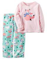 Carter's Dievčenské pyžamo s líškou - farebné, 80 cm