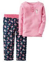 Carter's Dievčenské pyžamo s zajačikom - ružové, 80 cm