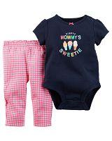 Carter's Dievčenský dojčenský komplet Mommy sweetie - farebný, 68 cm