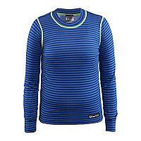Craft Detské pruhované funkčné tričko Mix and Match - modré, 110-116 cm