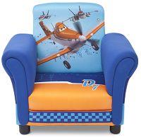 Delta Disney detské čalúnené kresielko Lietadlá