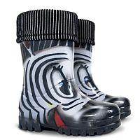 Demar Detské gumáky Twister LUX Print S Zebra, EUR 24/25