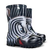 Demar Dievčenské gumáky Twister Print S Zebra, EUR 34/35