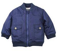 Dirkje Chlapčenská bunda s vreckami - modrá, 110 cm