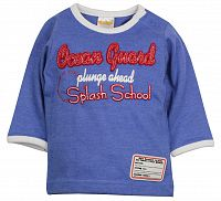 Dirkje Chlapčenské tričko Splash School - modré, 74 cm