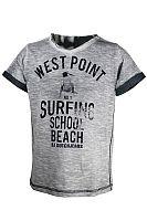 Dirkje Chlapčenské tričko Surfing - sivé, 116 cm