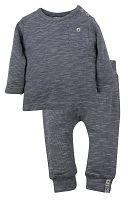 Dirkje Chlapčenský žíhaný dvojkomplet - sivý, 68 cm