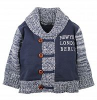 Dirkje Detský sveter New York, London - modrý, 62 cm