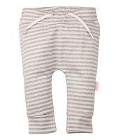 Dirkje Dievčenské prúžkované tepláky - ružovo-šedé, 86 cm