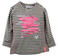Dirkje Dievčenské prúžkované tričko s nápisom - farebné, 92 cm