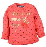 Dirkje Dievčenské tričko Dreams - oranžové, 74 cm