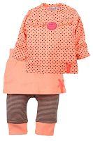 Dirkje Dievčenský dvojkomplet so sukienkou - oranžový, 68 cm