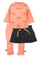 Dirkje Dievčenský trojkomplet - oranžový, 68 cm