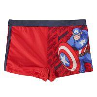Disney Brand Chlapčenské plavky Avengers - červené