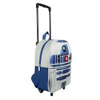 Disney Brand Chlapčenský batoh na kolieskach Star Wars - bielo-modrý