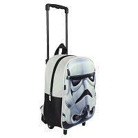 Disney Brand Chlapčenský batoh na kolieskach Star Wars - biely