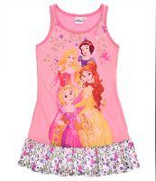 Disney Dievčenská nočná košieľka Princezné s volánmi - ružová, 116 cm