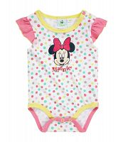 Disney Dievčenské body Minnie bodkované - farebné, 92 cm