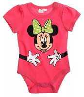 Disney Dievčenské body s Minnie - ružové, 62 cm