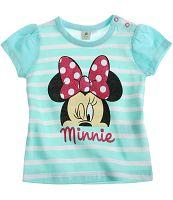 Disney Dievčenské pruhované tričko Minnie - modré, 62 cm