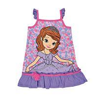 Disney Dievčenské šaty Sofia - fialovo - ružové, 92 cm