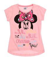 Disney Dievčenské tričko Minnie - ružové, 140 cm