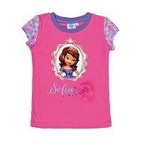 Disney Dievčenské tričko Sofie - ružové