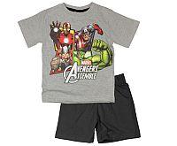 E plus M Chlapčenské pyžamo Avengers - sivo-čierne, 122 cm