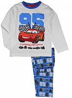E plus M Chlapčenské pyžamo Cars - bielo-modré, 98 cm