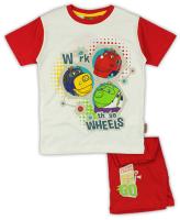 E plus M Chlapčenské pyžamo Chuggington - červené, 92 cm
