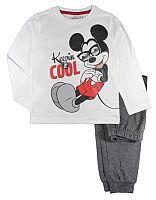E plus M Chlapčenské pyžamo Mickey - bielo-modré, 104 cm