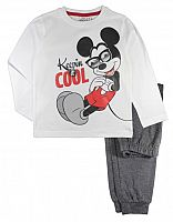 E plus M Chlapčenské pyžamo Mickey - bielo-modré, 116 cm