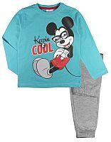 E plus M Chlapčenské pyžamo Mickey - modro-šedé, 110 cm
