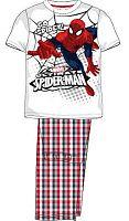 E plus M Chlapčenské pyžamo Spiderman - červenobiele, 134 cm