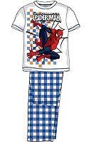 E plus M Chlapčenské pyžamo Spiderman - modrobiele, 134 cm