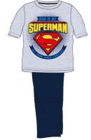 E plus M Chlapčenské pyžamo Superman - šedo-modré, 116 cm