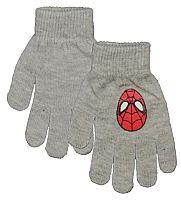 E plus M Chlapčenské rukavice Spiderman - šedé