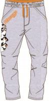 E plus M Chlapčenské tepláky Tučniaci z Madagaskaru - svetlo sivé, 134 cm