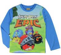E plus M Chlapčenské tričko Angry Birds - modré, 122 cm