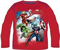 E plus M Chlapčenské tričko Avengers - červené, 116 cm