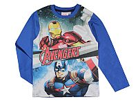 E plus M Chlapčenské tričko Avengers - modré, 128 cm