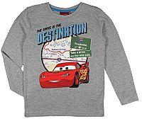 E plus M Chlapčenské tričko Cars - sivé, 122 cm