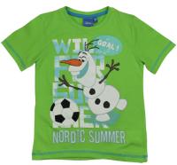 E plus M Chlapčenské tričko Frozen - zelené, 128 cm