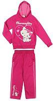 E plus M Dievčenská tepláková súprava Hello Kitty - ružová, 104 cm